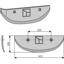 Soc pour arracheuses de betteraves, modèle gauche - AG005081