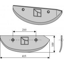 Soc pour arracheuses de betteraves, modèle gauche - AG005073