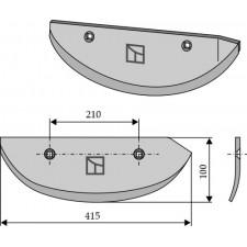 Soc pour arracheuses de betteraves, modèle droit - AG005072