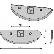 Soc pour arracheuses de betteraves, modèle gauche - AG005071