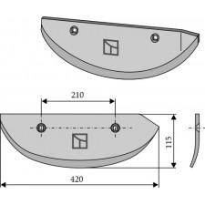 Soc pour arracheuses de betteraves, modèle droit - AG005070