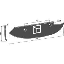 Soc pour arracheuses de betteraves, modèle droit - Barigelli - 40302020