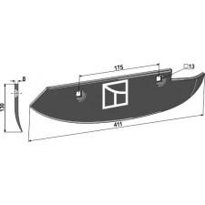 Soc pour arracheuses de betteraves, modèle droit - Barigelli - 40302030