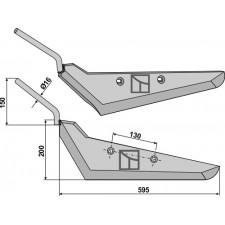 Soc pour arracheuses de betteraves, modèle gauche - Gilles - 6994