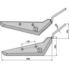 Soc pour arracheuses de betteraves, modèle droit - Gilles - 6993