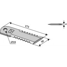 Couteau broyeur de paille - Claas - 0000652940