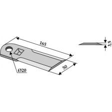 Couteau broyeur de paille - Case - 1322241C2