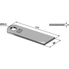 Couteau broyeur de paille de mais - Claas - 0000611871