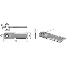 Couteau broyeur de paille - Claas Lexion - 0007558750