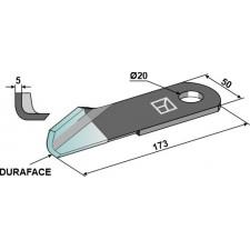 Couteau broyeur de paille gauche - DURAFACE - New Holland - 87384918