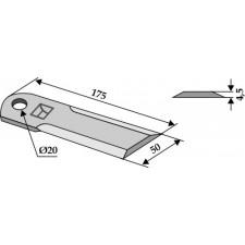 Couteau broyeur de paille - Massey Ferguson - D 49080066