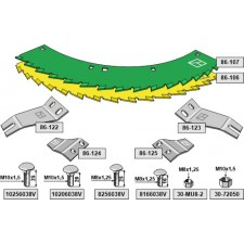 Kit-lames de scie - John Deere - LCA790402
