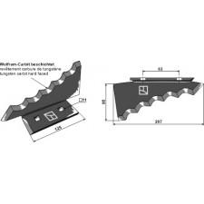 Couteau pour mélangeurs de fourrage, gauche - Keenan - 703956
