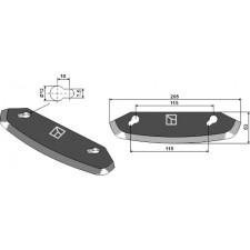 Couteau pour mélangeurs de fourrage - Storti - 16800061