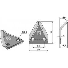 Couteau pour mélangeurs de fourrage - Strautmann - 60644511