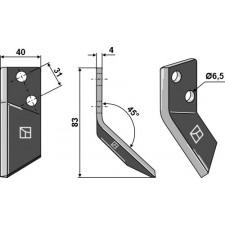 Couteau pour mélangeurs de fourrage, droit - DeLaval - 94832601