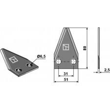 Couteau pour mélangeurs de fourrage - DeLaval - 94832901