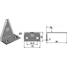 Couteau pour mélangeurs de fourrage - AG005677