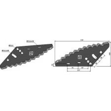 Couteau pour mélangeurs de fourrage - HI-SPEC - VF0009 - VTF021B