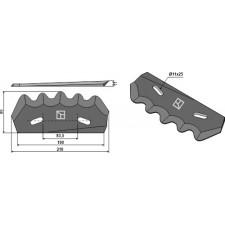 Couteau pour mélangeurs de fourrage - revêtement en métal dur, gauche