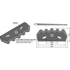 Couteau pour mélangeurs de fourrage - revêtement en métal dur, droit - Strautmann - 60503503