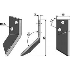 Couteau pour mélangeurs de fourrage, droit - AG005627