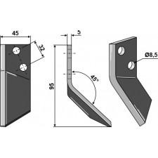 Couteau pour mélangeurs de fourrage, gauche - AG005626