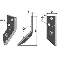 Couteau pour mélangeurs de fourrage, droit - Sgariboldi - CL07.001