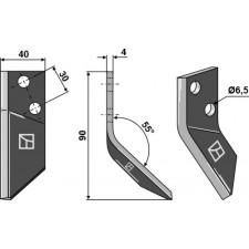 Couteau pour mélangeurs de fourrage, gauche - Sgariboldi - CL07.002