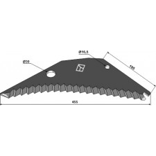 Couteau d'ensilage - Pöttinger - 434.019