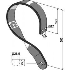 Dent de fenaison - modèle gauche - AG003751
