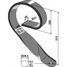 Dent de fenaison - modèle droit - AG003750