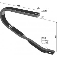 Dent de fenaison - modèle gauche - AG003747