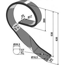 Dent de fenaison - modèle droit - AG003744