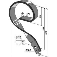 Dent de fenaison - modèle gauche - AG003743