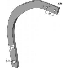 Dent 60x25 - gauche - Lemken Rubin - 4128171