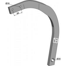 Dent 60x25 - droite - Lemken Rubin - 4128170