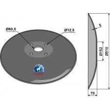 Disque lisse à fond plat - Ø510x5 - AG006452