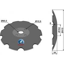 Disque crénelée à fond plat - Ø410