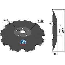 Disque crénelée à fond plat - Ø510 - AG006446