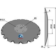 Disque crénelé à fond plat Ø530 - Accord - AC353952