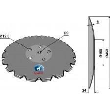 Disque crénelé à fond plat Ø460 - Accord - AC353951