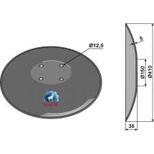 Disque lisse à fond plat - Ø410x5 - AG006442