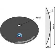 Disque lisse Ø510x4,5 - John Deere - N231991