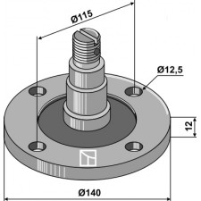 Bride de palier avec axe - AG006818