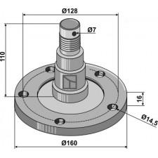 Bride de palier avec axe - AG006799