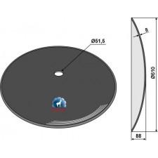 Disque lisse Ø610x8 - Landoll - 140465 - 124662