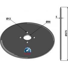 Coutre circulaire Ø575x5 - KET Weimar - 000.02.000.02