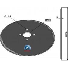 Coutre circulaire Ø630x5 - KET Weimar - 000.02.000.06