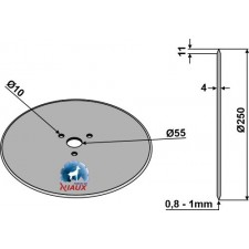 Coutre circulaire Ø250x4